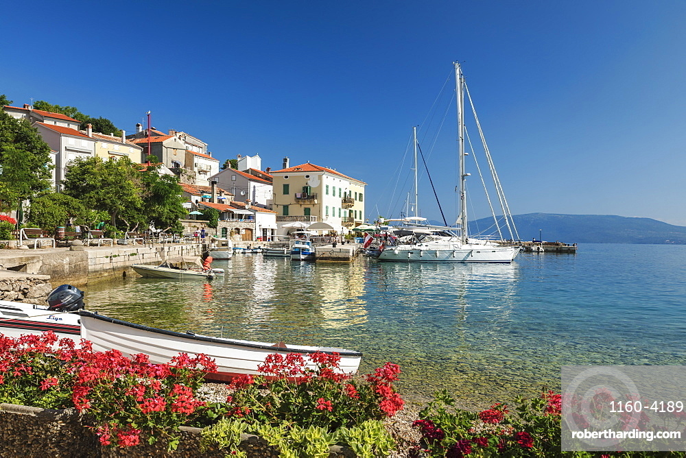 Fishing boats at the port, Valun, Cres Island, Kvarner Gulf, Croatia, Europe