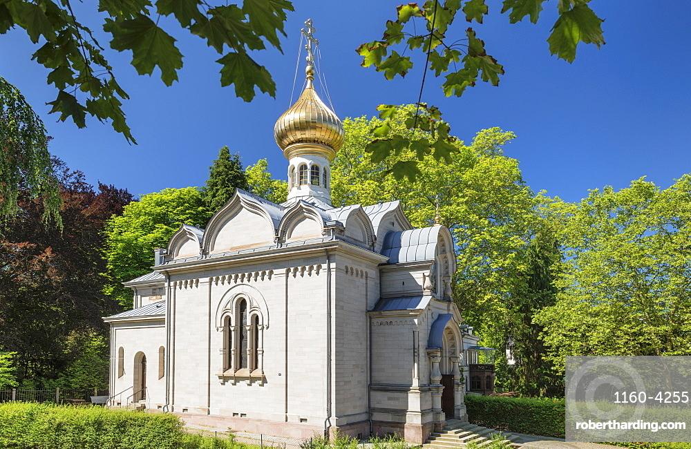 Russian church, Baden-Baden, Black Forest, Baden-Wuerttemberg, Germany