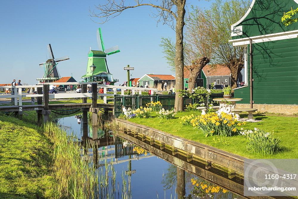 Traditional village, Zaanse Schans, Zaandam, North Holland, Netherlands, Europe