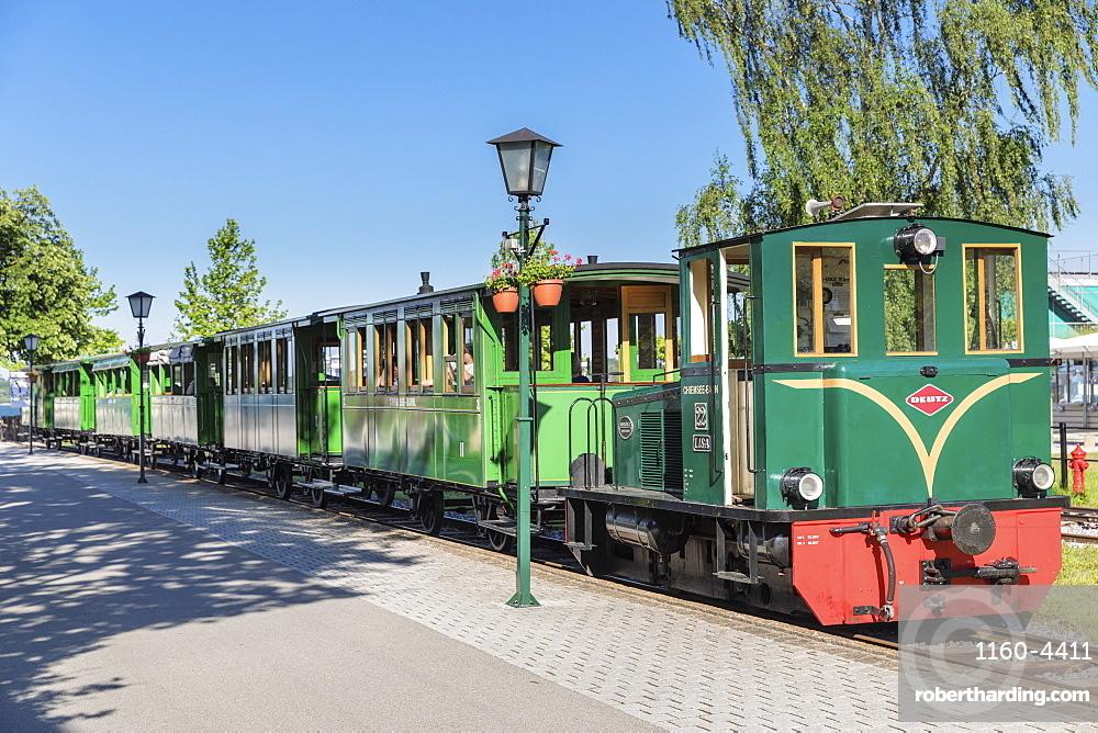 Chiemsee Railway at Prien Stock Station, Prien am Lake Chiemsee, Upper Bavaria, Germany, Europe