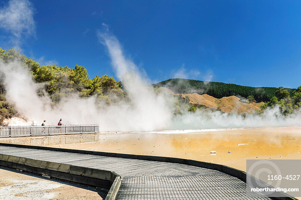 Champagne Pool, Wai-O-Tapu Thermal Wonderland, Rotorua, Bay of Plenty, North Island, New Zealand, Pacific