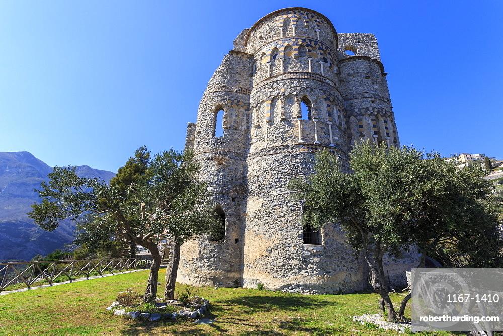 Basilica of Sant'Eustachio, 13th century, Medieval Pontone and Minuta, Amalfi Coast, UNESCO World Heritage Site, Campania, Italy, Europe
