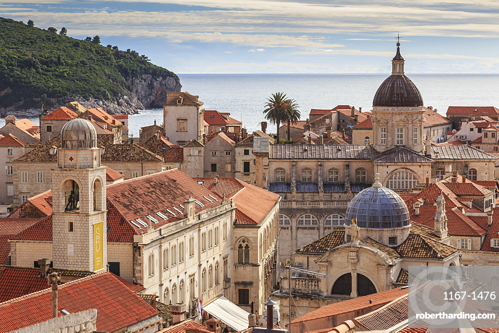 Historic Old Town, Cathedral, St. Blaise Church, Clock Tower and Rector's Palace, Dubrovnik, UNESCO World Heritage Site, Croatia, Europe