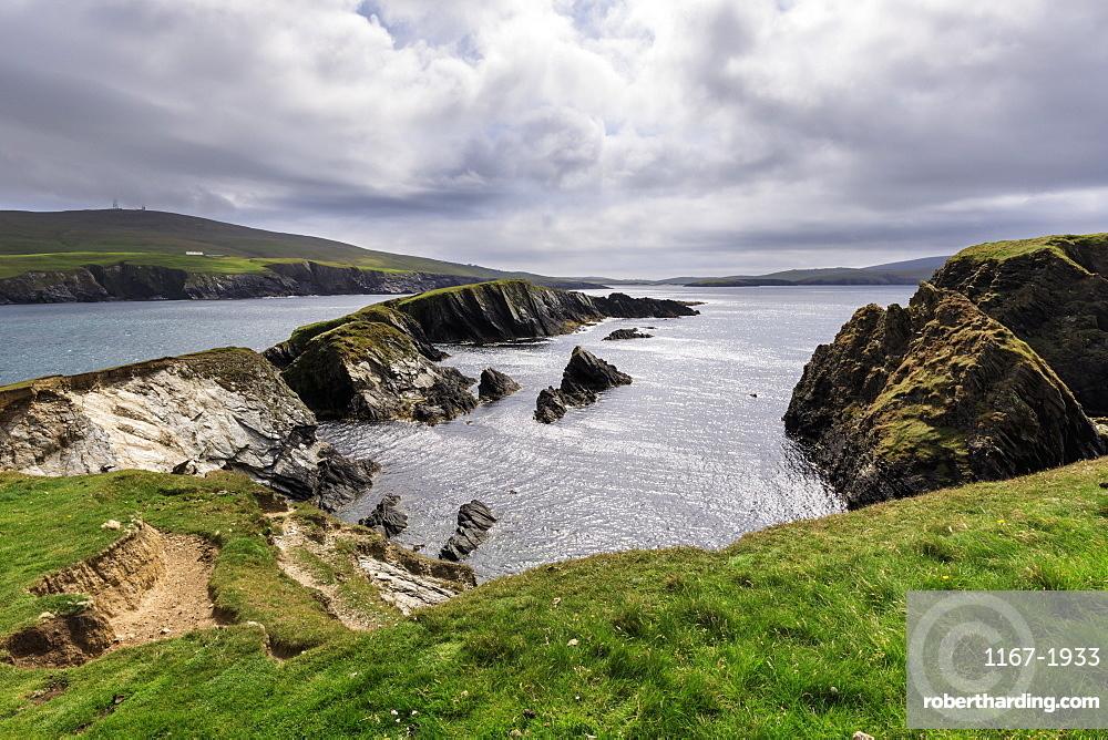 St. Ninian's Isle, spectacular cliff scenery, South West Mainland, Shetland Islands, Scotland, United Kingdom, Europe