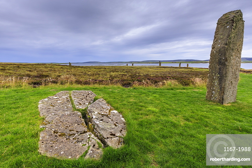 Ring of Brodgar stone circle in Orkney Islands, Scotland, Europe