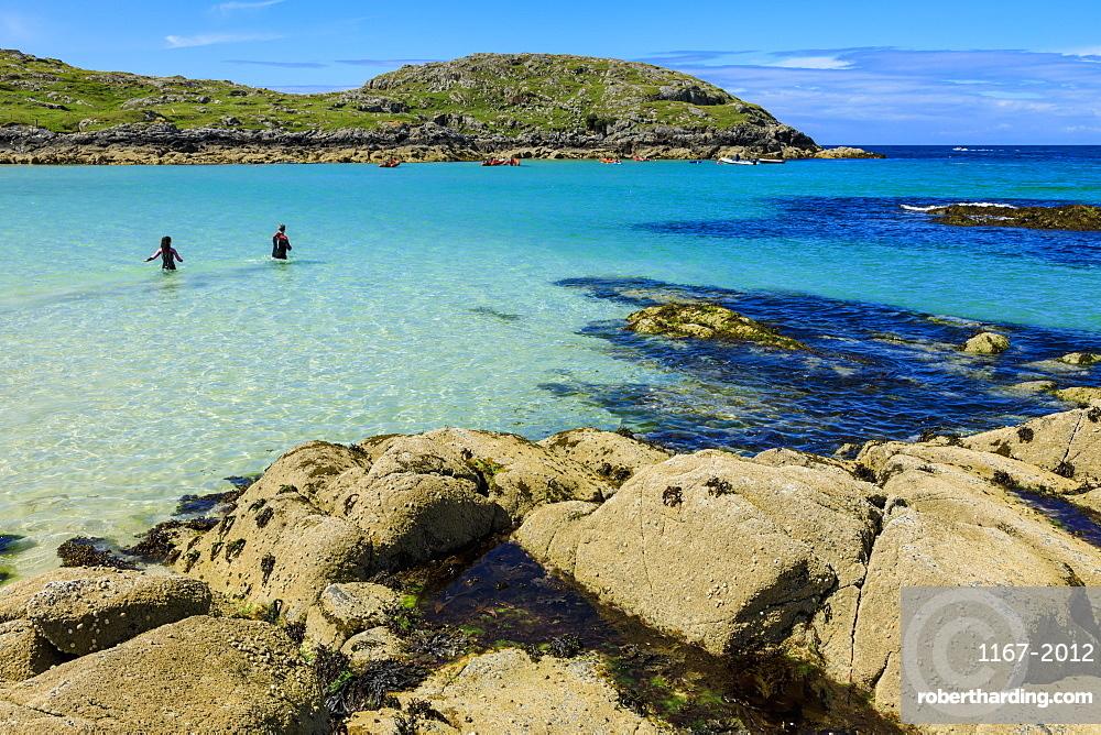Achmelvich beach in Highland, Scotland, Europe