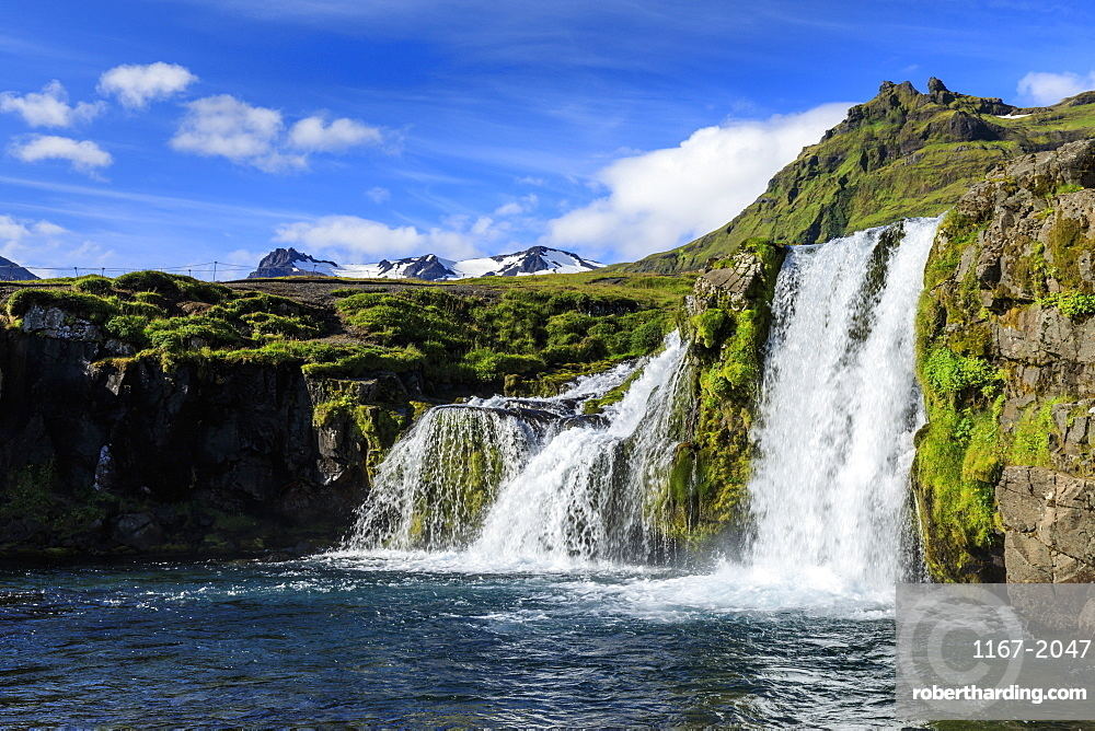 Kirkjufellsfoss waterfall in Grundarfjordur, Iceland, Europe