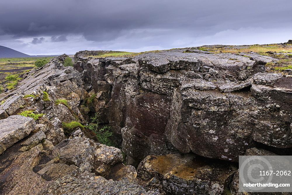 Grjotagja cave near Lake Myvatn in Iceland, Europe