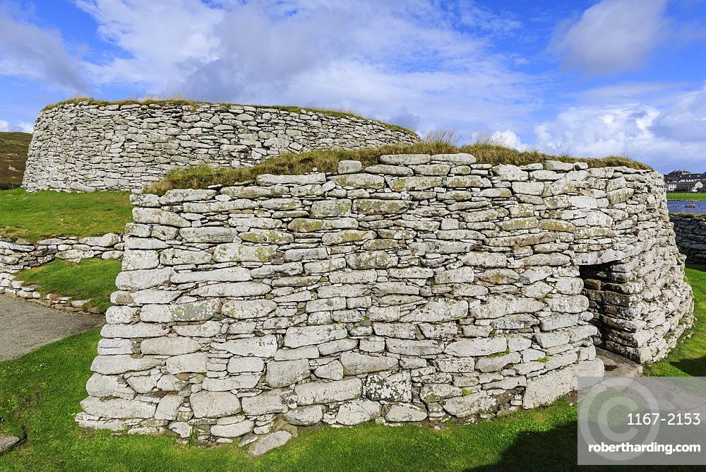 Clickimin Broch and Blockhouse, Iron Age Fort, Clickimin Loch, Central Lerwick, Shetland Isles, Scotland, United Kingdom, Europe