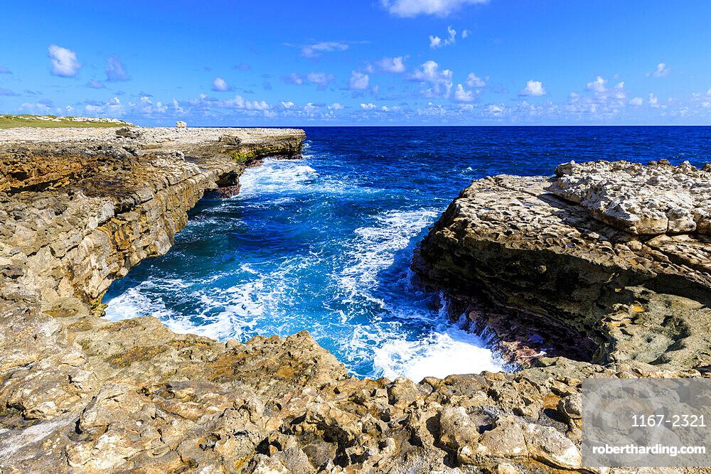 Devil's Bridge, geological limestone rock formation and arch, Willikies, Antigua, Antigua and Barbdua, Leeward Islands, West Indies, Caribbean, Central America