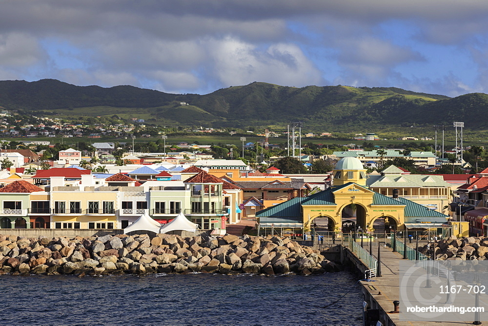 Port Zante cruise ship port, Basseterre, St. Kitts, St. Kitts and Nevis, West Indies, Caribbean, Central America