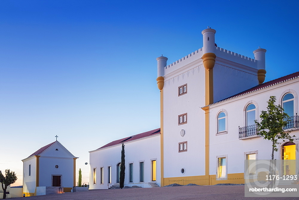 The historic main building of the Torre De Palma Wine Hotel, Alentejo, Portugal, Europe