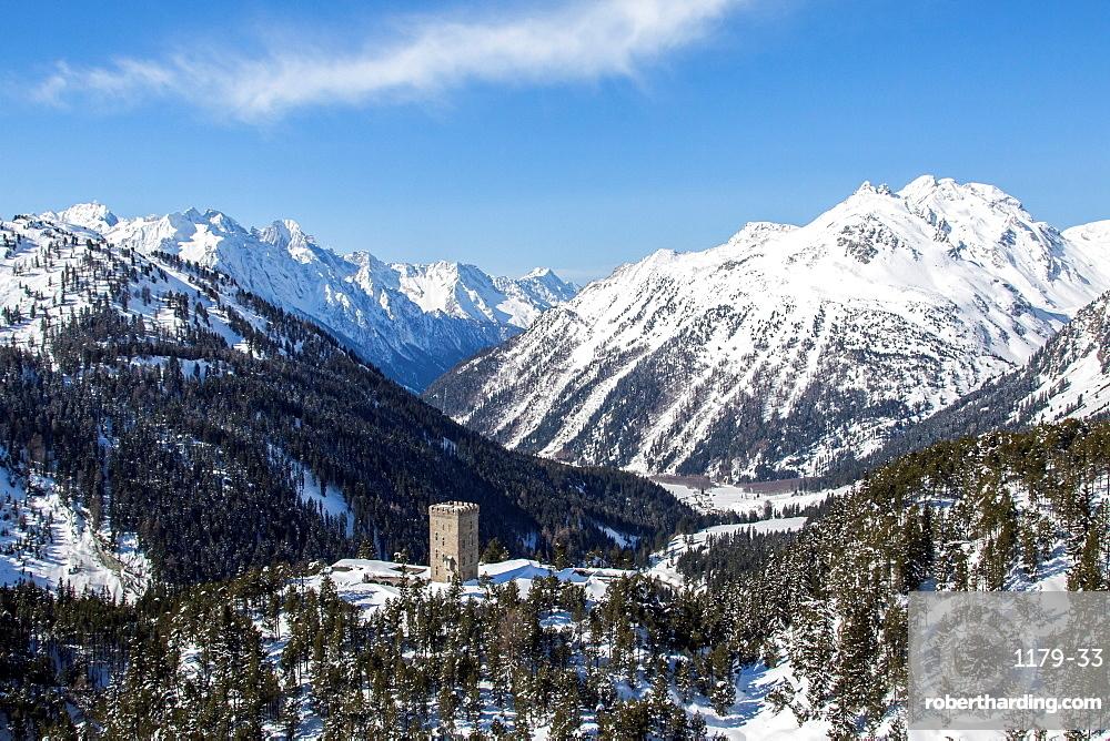 The landscape around Maloja Pass in Engadine, Switzerland, Europe