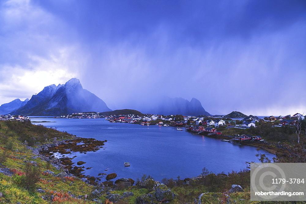 Landscape of Reine in Moskenes, Norway, Europe