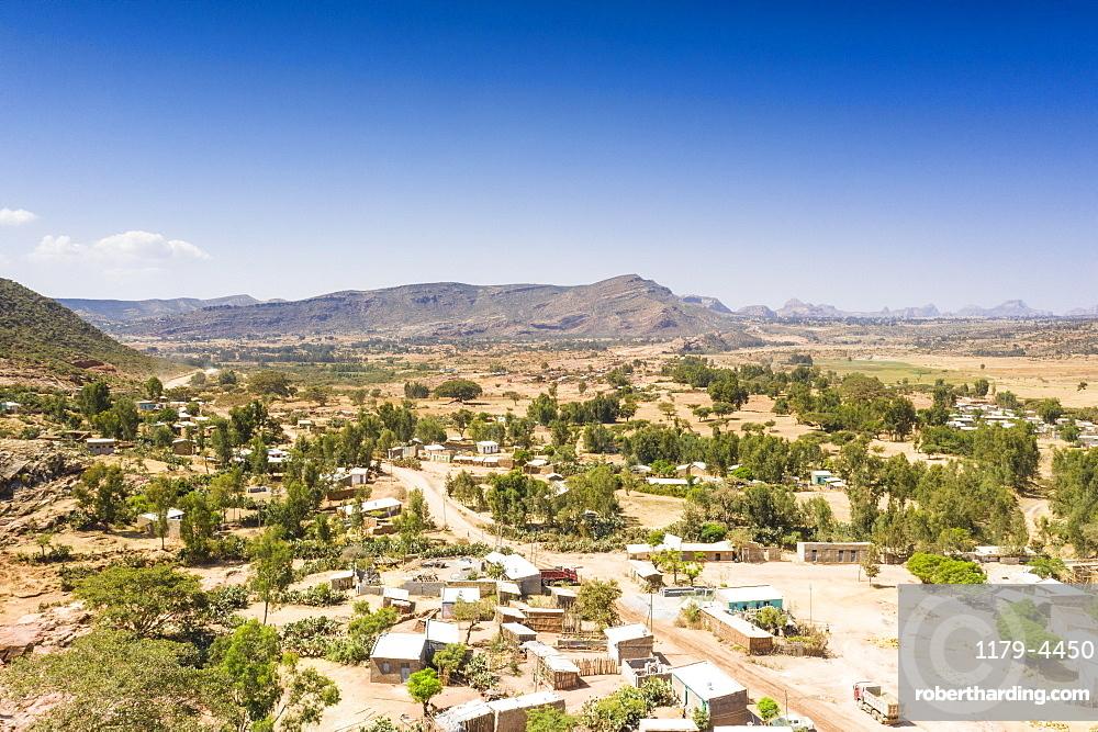 Wukro village close to the ancient Abreha We Atsbeha church, Tigray Region, Ethiopia, Africa