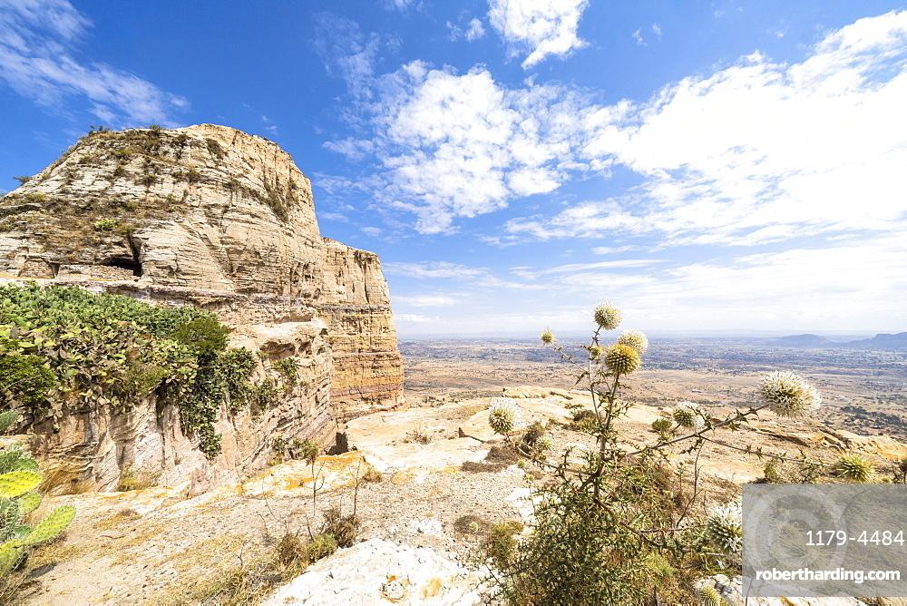 Sandstone rocks of Gheralta Mountains, Tigray Region, Ethiopia, Africa