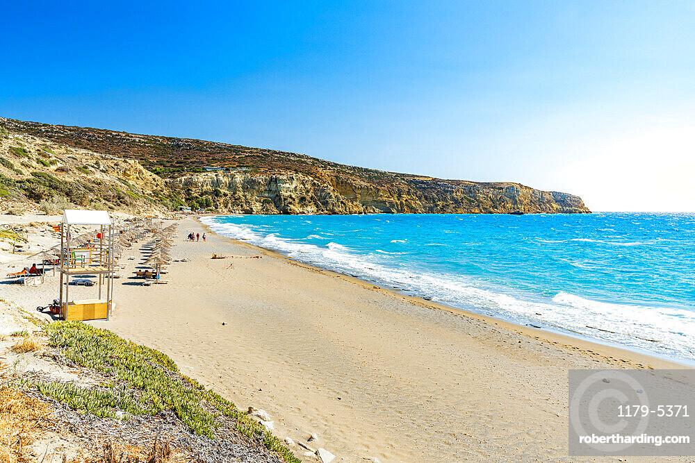 Kommos beach in summer, Matala, Crete island, Greece
