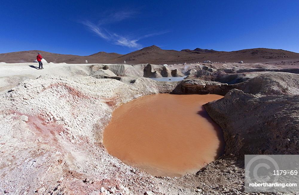 Sol de Manana, a geothermal field in Sur Lipez Province in the Potosi Department, Bolivia, South America