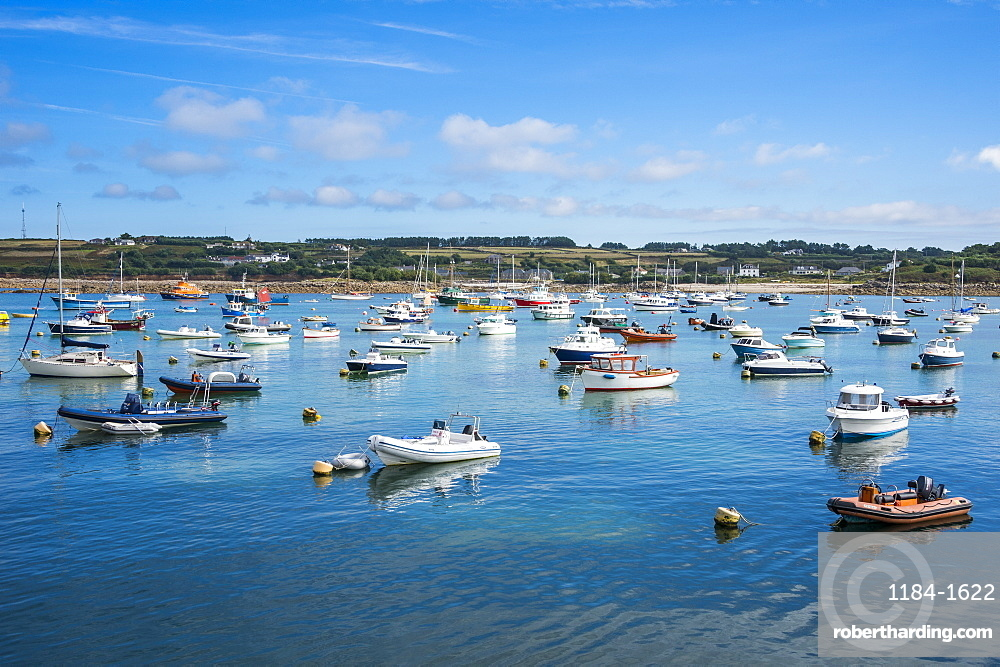 Small boat harbour, St. Mary's, Isles of Scilly, England, United Kingdom, Europe