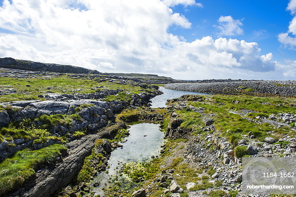 Very rocky grounds in Arainn, Aaran Islands, Republic of Ireland, Europe