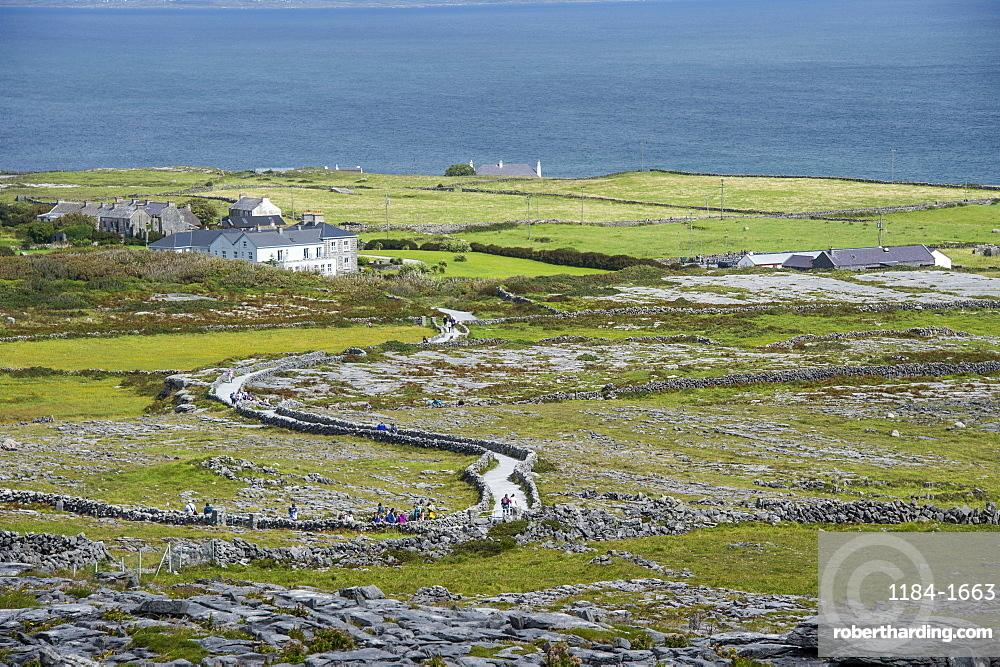 Overlook over Arainn, Aaran Islands, Republic of Ireland, Europe