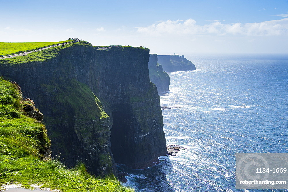 Cliffs of Moher, The Burren, County Clare, Munster, Republic of Ireland, Europe