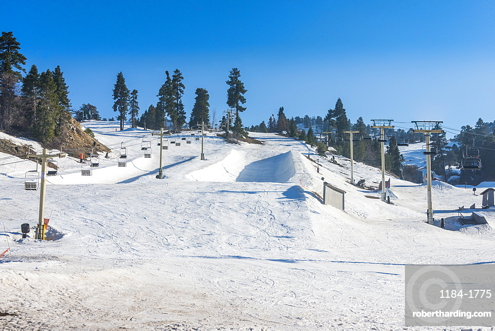Ski resort of Big Bear in spring, San Bernadino Mountains, California, United States of America, North America