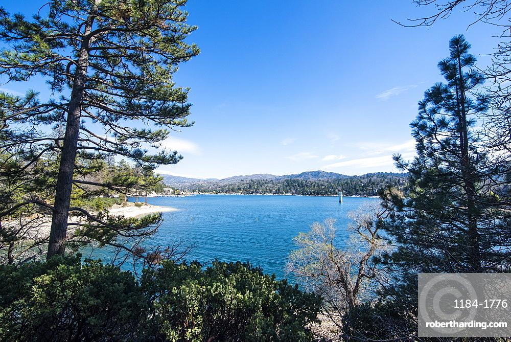 Overlook over Lake Arrowhead, San Bernardino Mountains, California, United States of America, North America