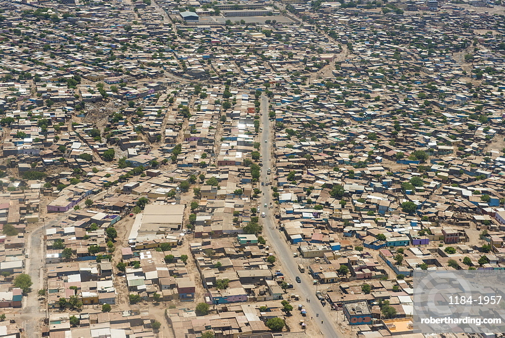 Aerial of Djibouti on the Horn of Africa, Africa