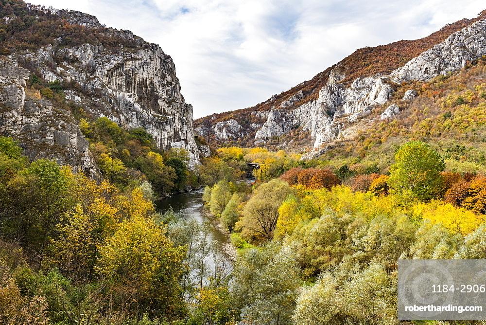 Beautiful autumn colours in the Iskar Gorge, Bulgaria, Europe