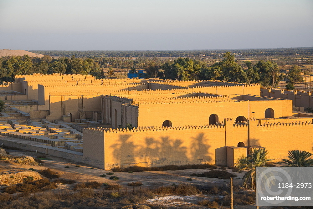 View over the town of Babylon, Iraq, Middle East