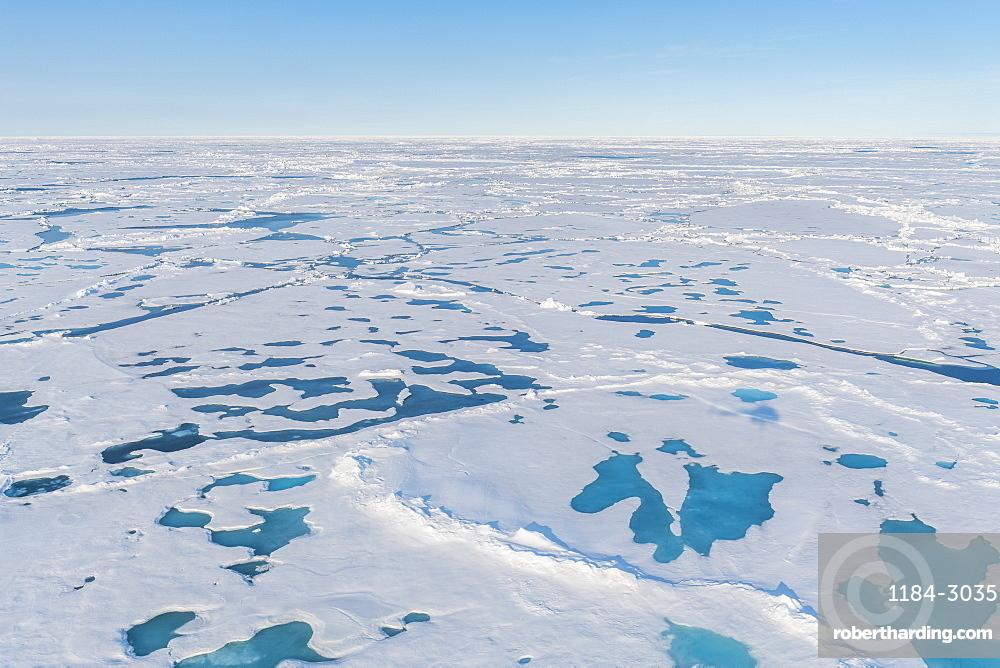 Melting ice at North Pole, Arctic