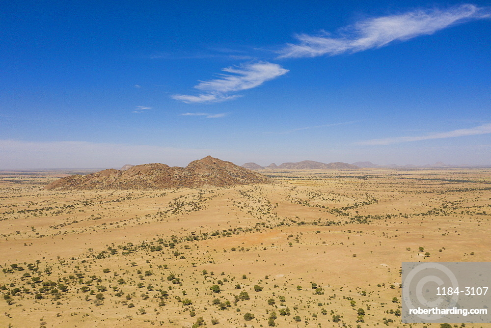 Aerial of the Sahel, Chad, Africa