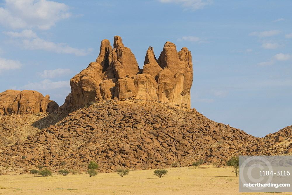 Rock formations, Ennedi Plateau, UNESCO World Heritage Site, Ennedi region, Chad, Africa