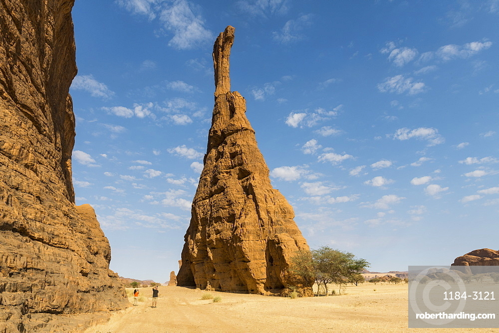 Massive single rock tower, Ennedi Plateau, UNESCO World Heritage Site, Ennedi region, Chad, Africa