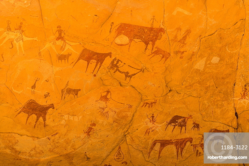 Rock paintings, Ennedi Plateau, UNESCO World Heritage Site, Ennedi region, Chad, Africa