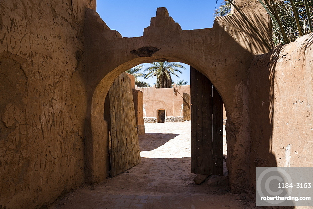 Old Ksar, old town of Beni Abbes, Sahara, Algeria, North Africa, Africa