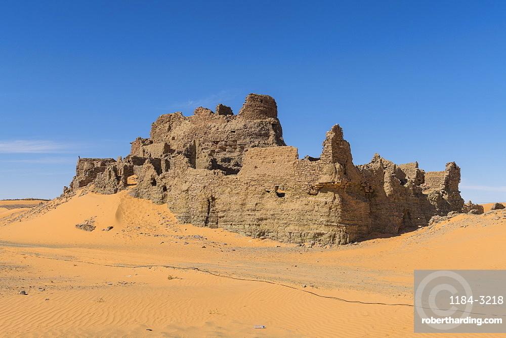 Old ksar, old town in the Sahara Desert, near Timimoun, western Algeria, North Africa, Africa