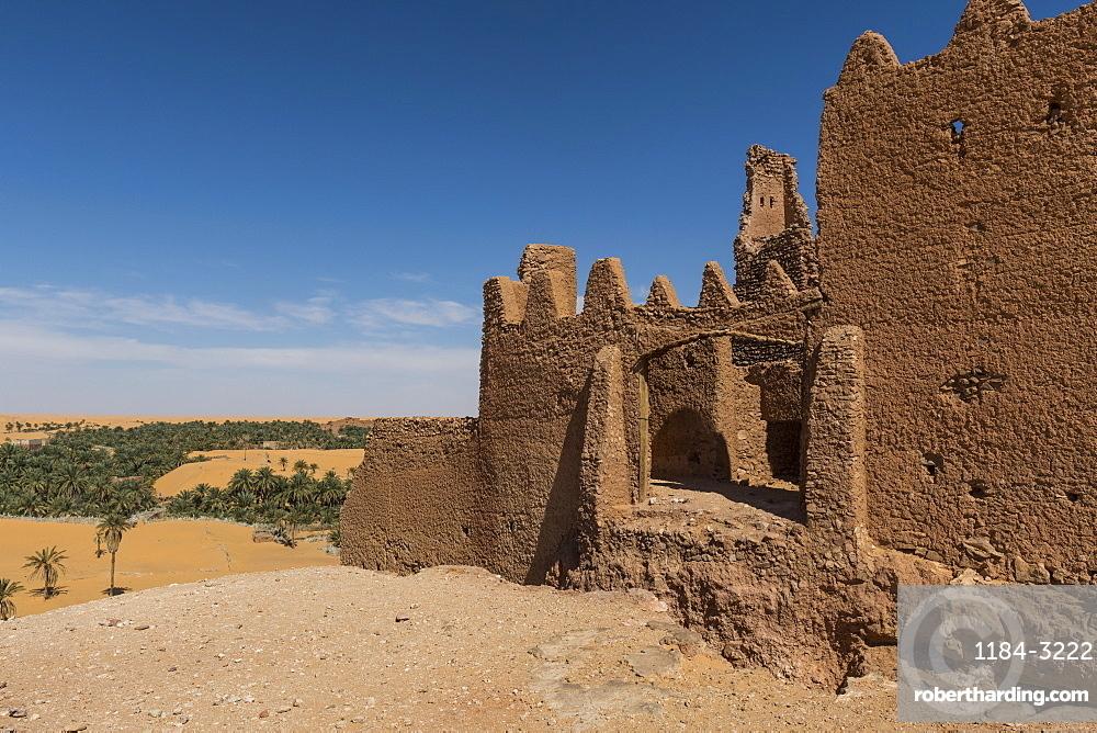 Old ksar, old town in the desert, near Timimoun, western Algeria, North Africa, Africa