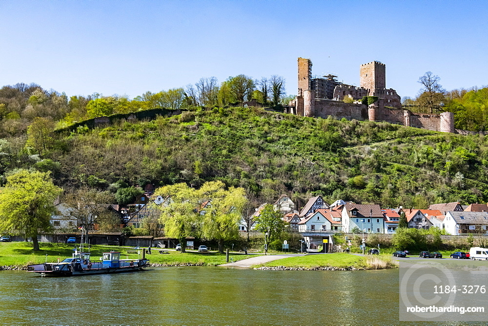 The historic town of Stadtprozelten along the Main River, Bavaria, Germany, Europe