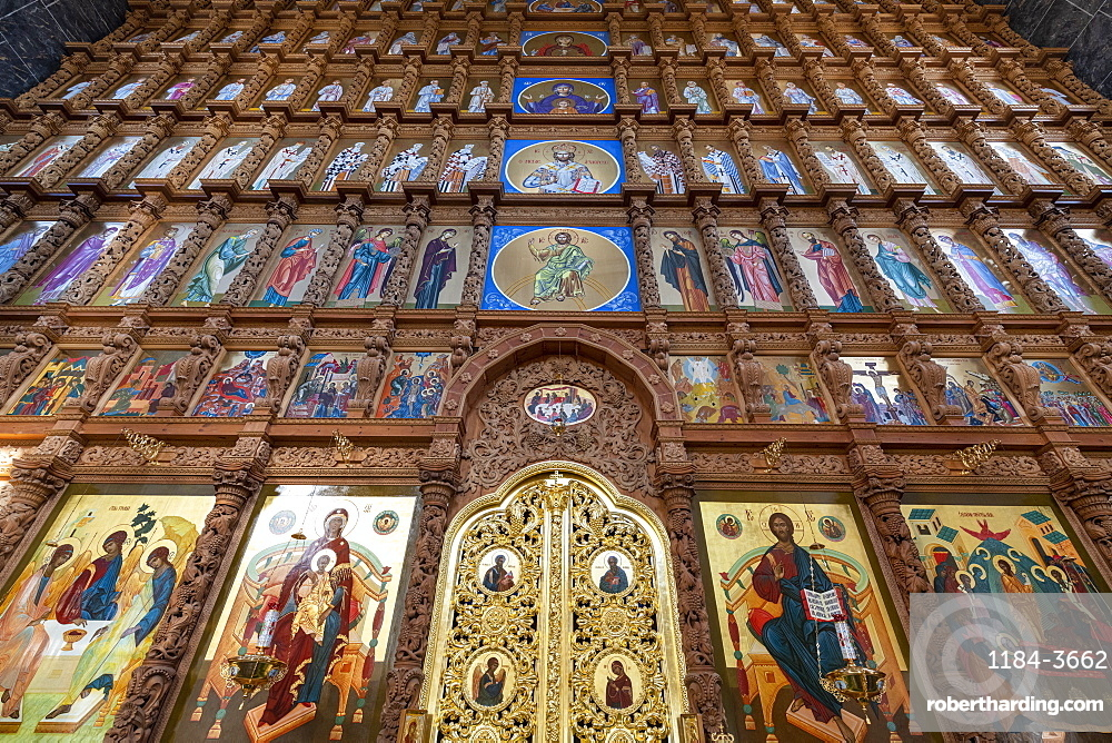 Interior of the Assumption Cathedral, Kremlin of Astrakhan, Astrakhan Oblast, Russia, Eurasia