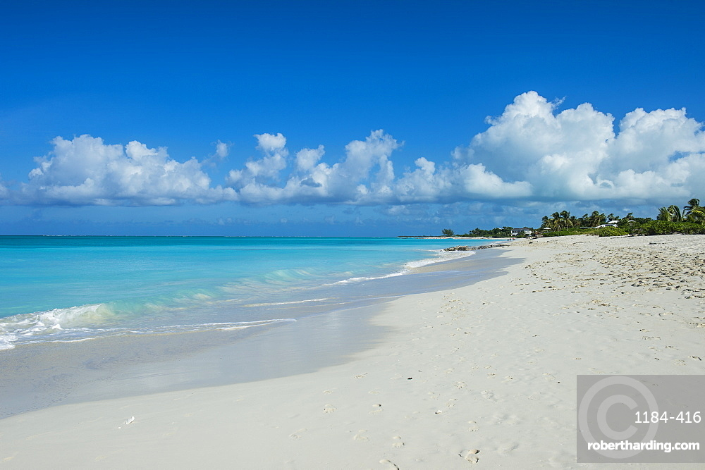 World famous white sand on Grace Bay beach, Providenciales, Turks and Caicos, Caribbean, Central America