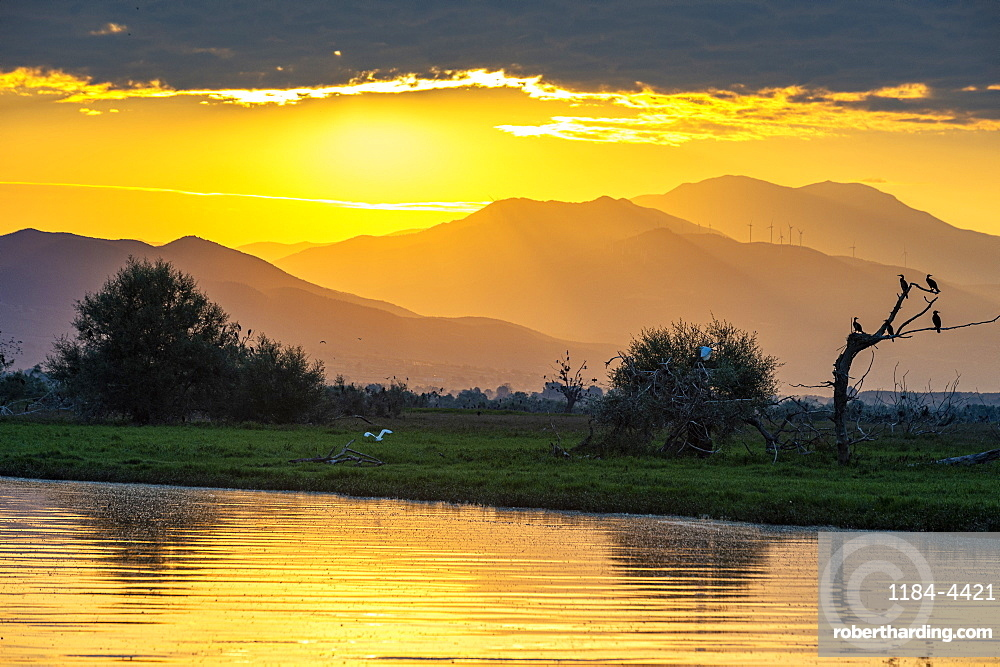 Sunrise over the Kerkini lake, Macedonia, Greece