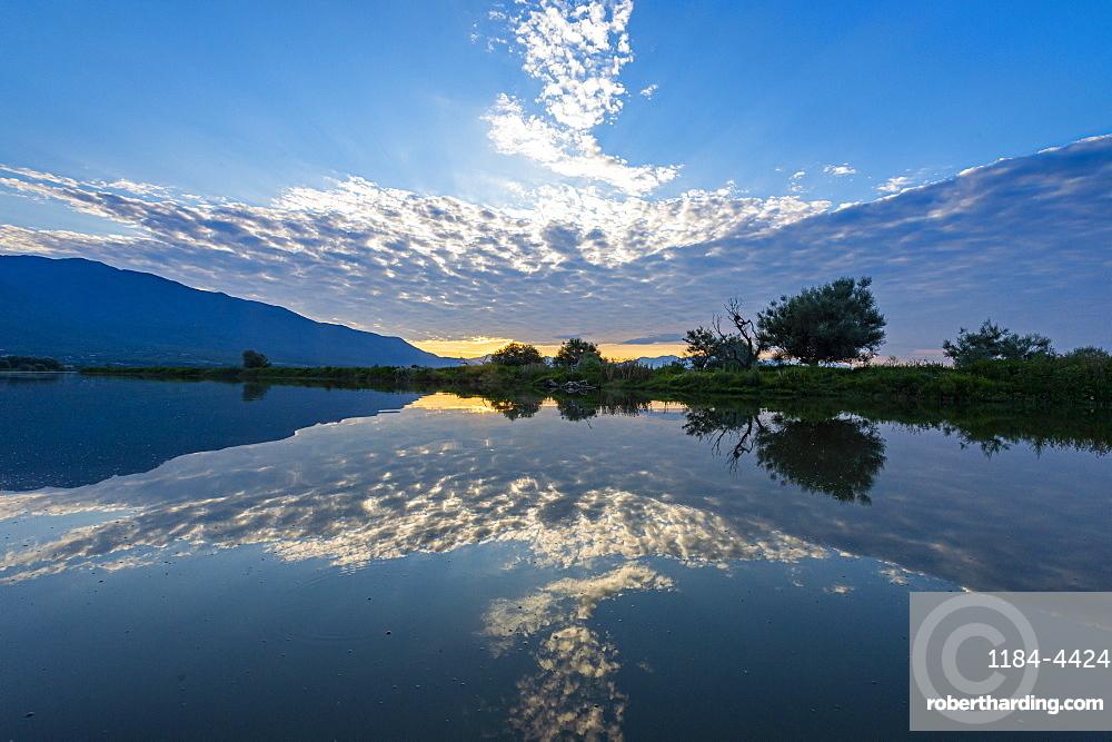 Sunrise over the Kerkini lake, Macedonia, Greece