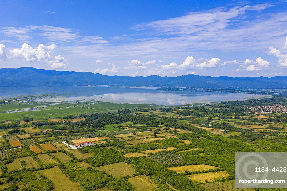 Aerial of the Kerkini lake, Macedonia, Greece (drone)