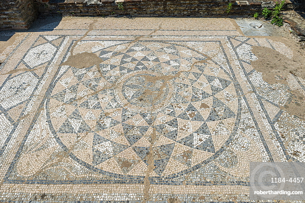Mosaic in the Archaeological Park of Dion, Mount Olympus, Greece
