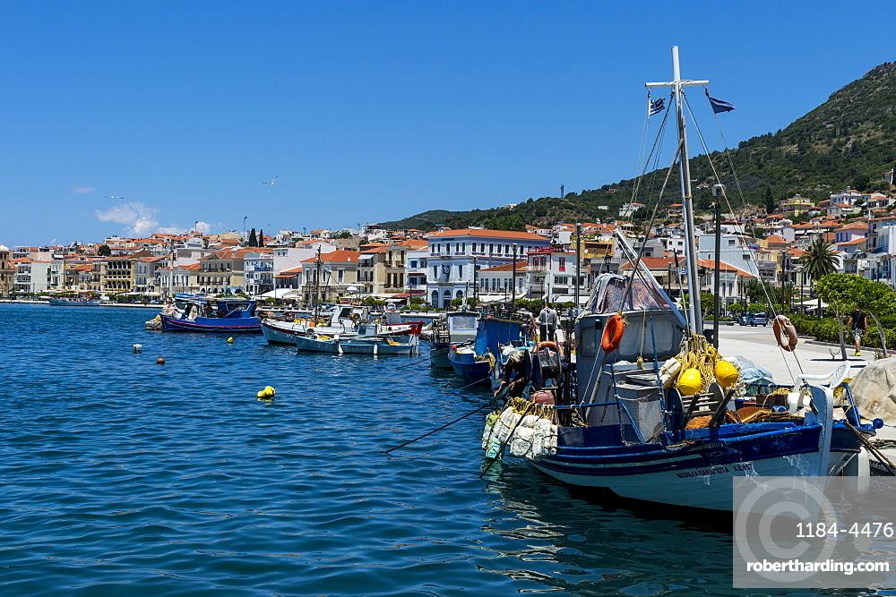 Fishing harbour, Samos town, Samos, Greece