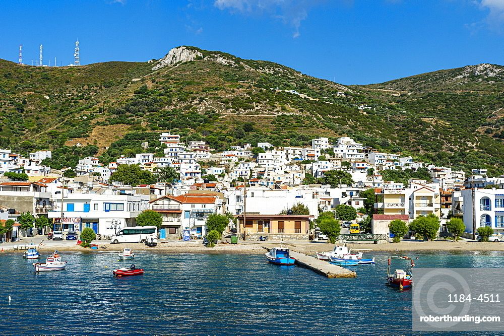 Port of Kampi, Fourni, Greece