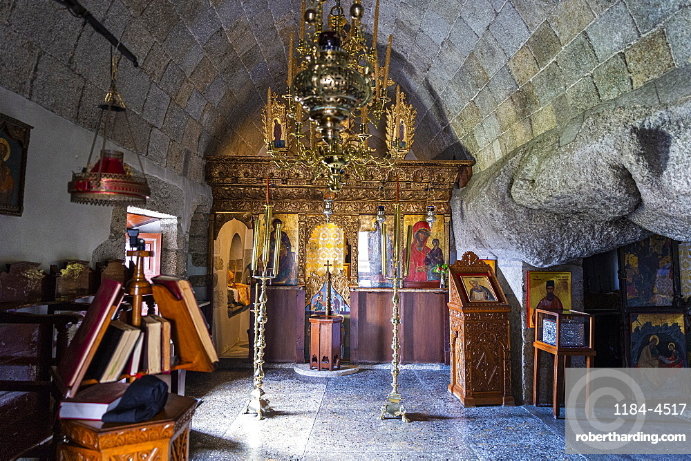 Cave of The Revelation, Patmos, UNESCO World Heritage Site, Dodecanese, Greek Islands, Greece, Europe
