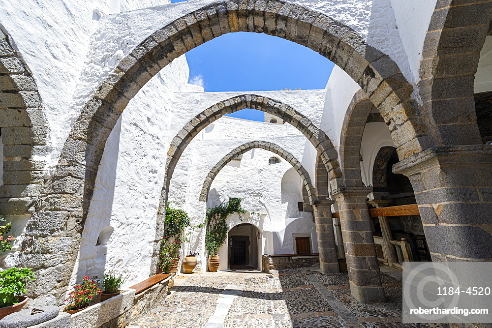 Unesco world heritage site, Monastery of Saint John the Theologian, Chora, Patmos, Greece